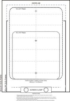 Screen Printing Registration Template Screen Printing Printing and On Pinterest