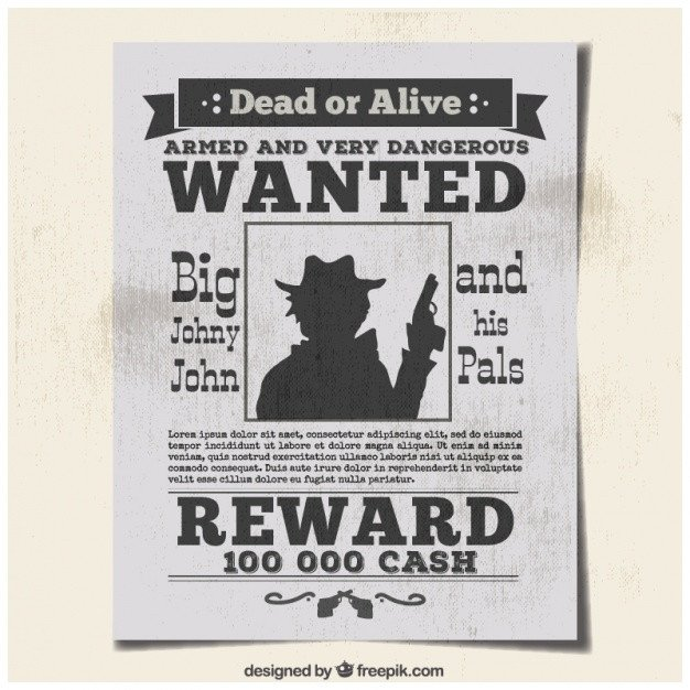 Se Busca Template Cartel Se Busca Criminal En Hoja De Periódico Vector