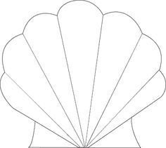 Seashell Template Free Printable Clamshell Cartoon Image Google Search