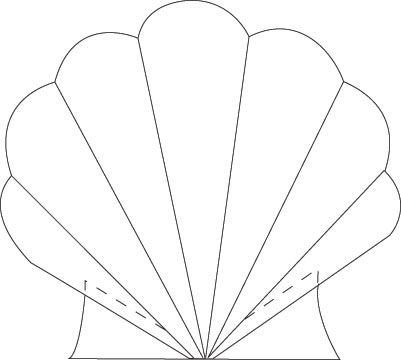 Seashell Template Free Printable Free Paper Piecing Quilts