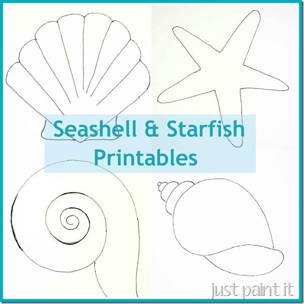 Seashell Template Free Printable Free Seashell and Starfish Printable Patterns for Painting