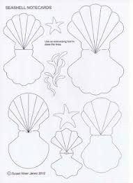 Seashell Template Free Printable Résultats De Recherche D Images Pour Seashell Template