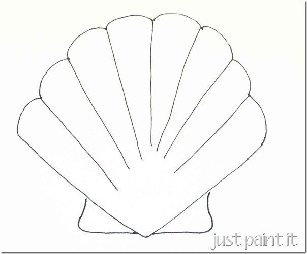 Seashell Template Free Printable Seashell and Starfish Pattern Printables Just Paint It Blog