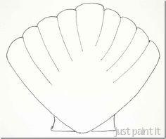 Seashell Template Free Printable Seashell and Starfish Pattern Printables