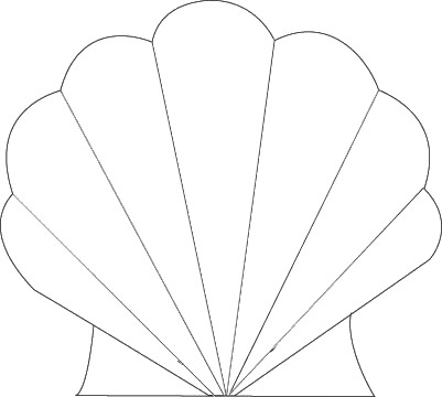 Seashell Template Free Printable Seashell Template Clipart Best