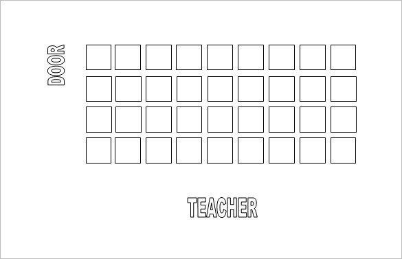 Seating Chart Template Word Classroom Seating Chart Template 10 Examples In Pdf