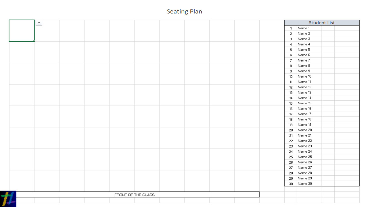 Seating Chart Template Word Excel at Seating Plans – Tekhnologic
