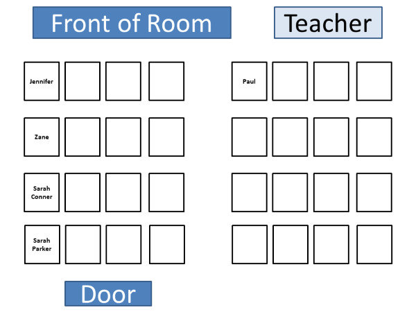 Seating Chart Template Word Puter Lab Seating Chart Template