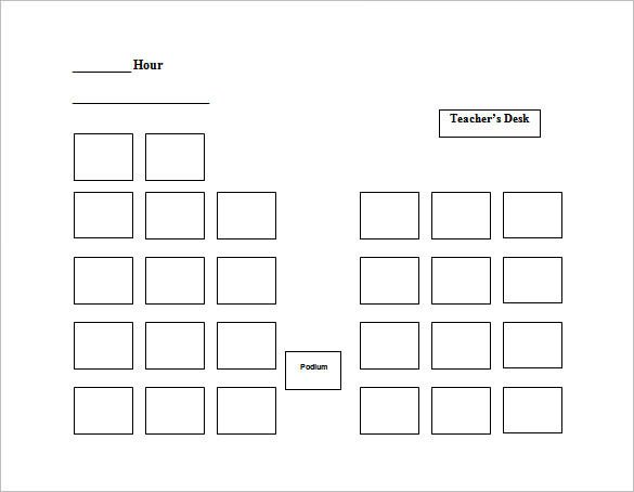 Seating Chart Template Word Seating Chart Template 9 Free Word Excel Pdf format