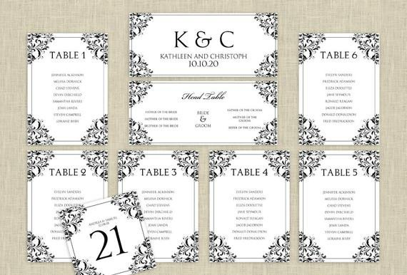 Seating Chart Template Word Wedding Seating Chart Template Download by Karmakweddings