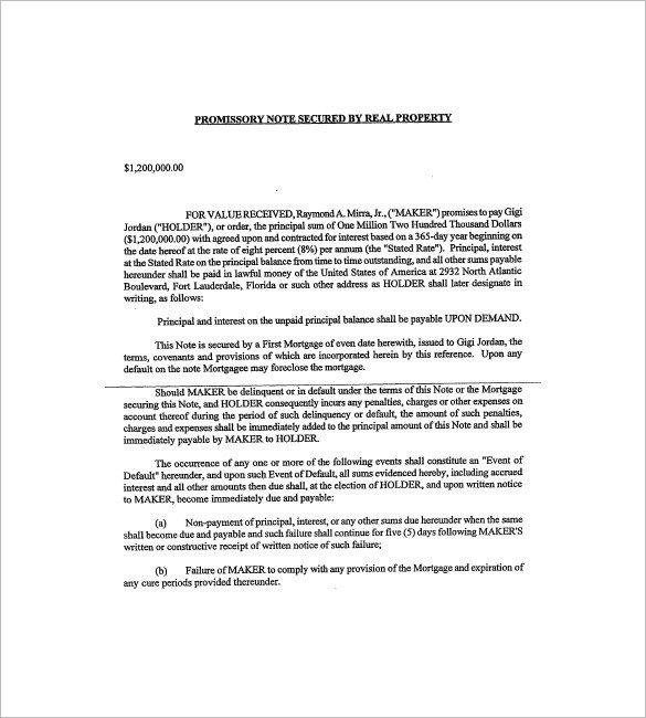 Secured Promissory Note Template Secured Promissory Note