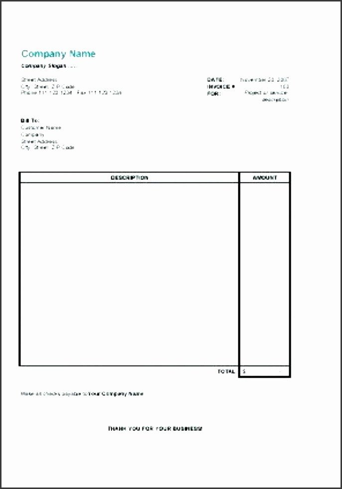 Self Employed Invoice Template 5 Invoice Template for Self Employed Sampletemplatess