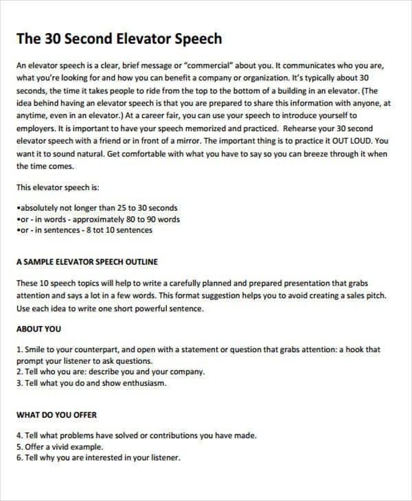 Self Intro Speech Outline 51 Introduction Speech Samples Pdf Doc