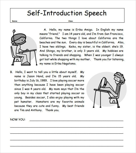 Self Introduction Speech Outline 7 Self Introduction Speech Examples for Free Download Pdf