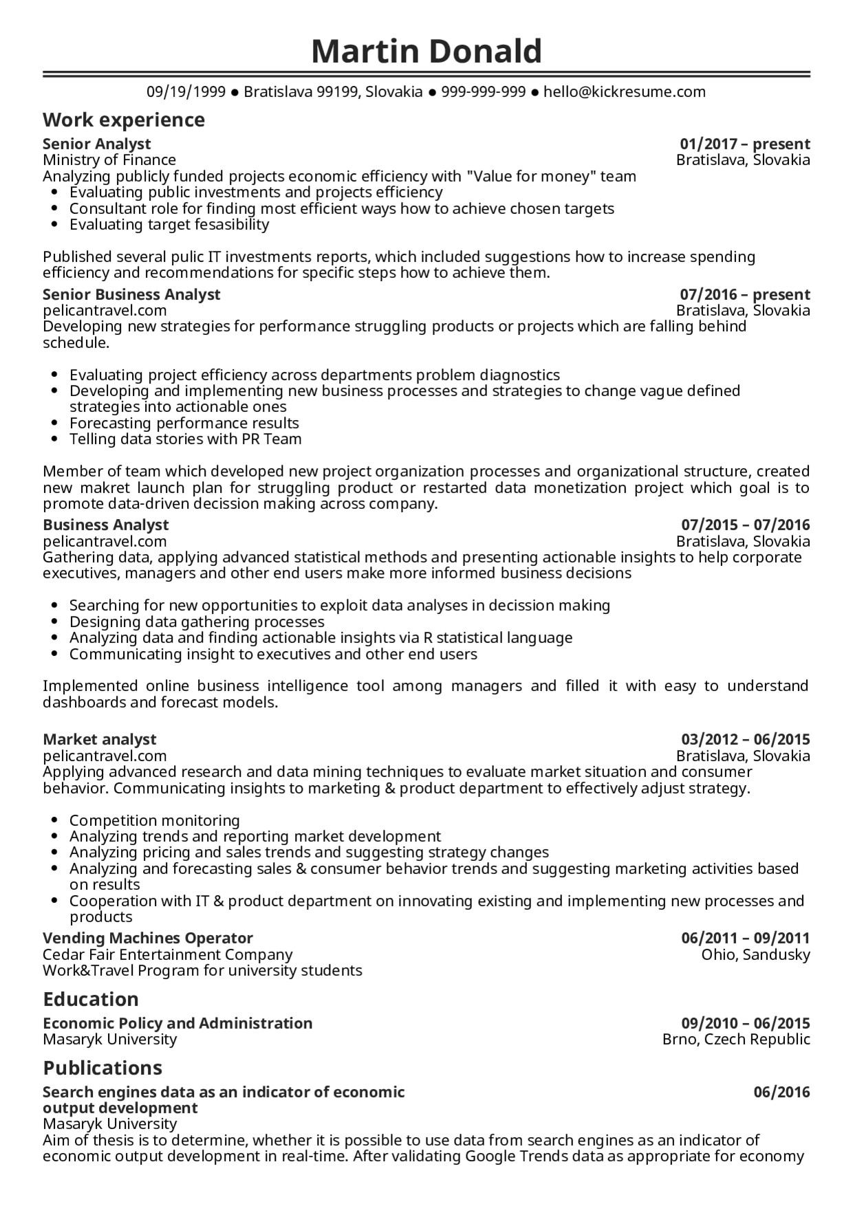Senior Business Analyst Resume Resume Examples by Real People Senior Business Analyst
