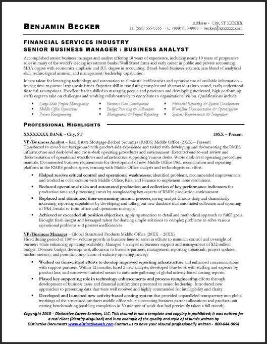 Senior Business Analyst Resume Senior Business Analyst Resume