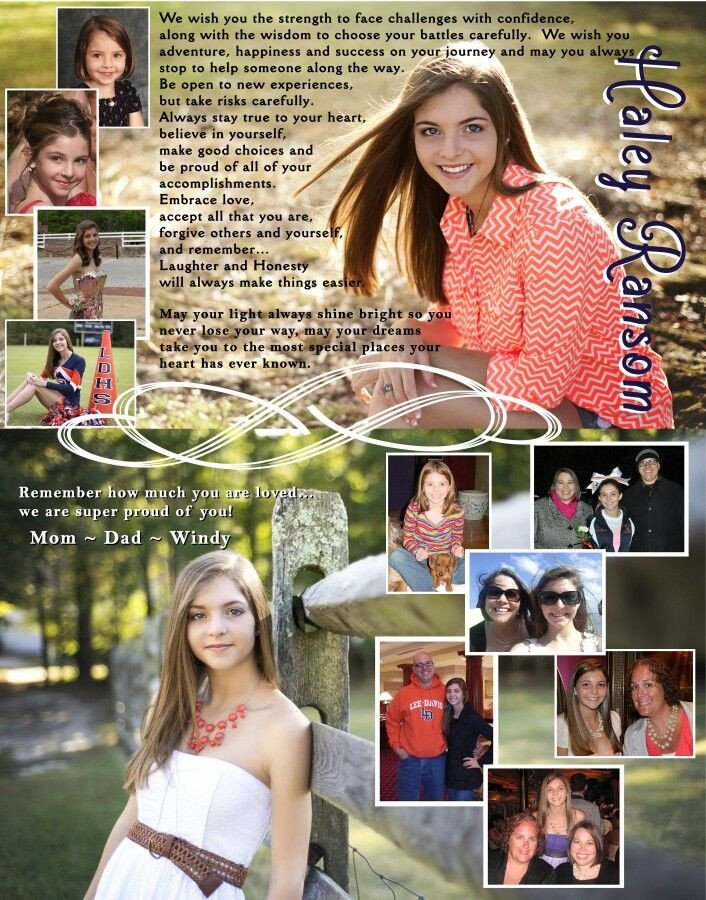 Senior Yearbook Page Template 21 Best Images About Yearbook Dedication Page On Pinterest