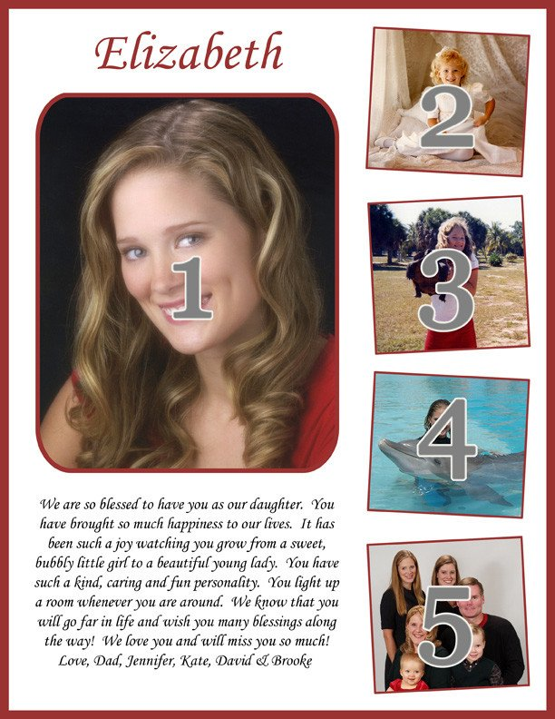 Senior Yearbook Page Template Moments to Remember School Yearbook Ads