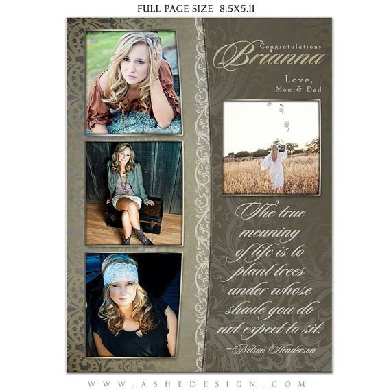 Senior Yearbook Page Template Senior Yearbook Ad Sets for Graphers Antique by