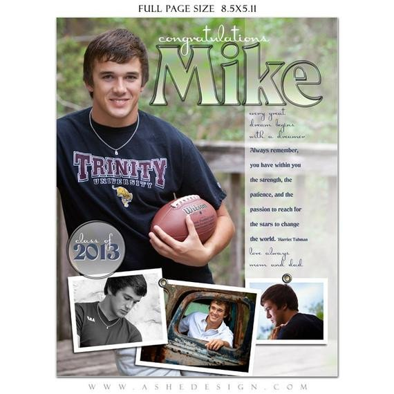 Senior Yearbook Page Template Senior Yearbook Ads Shop Templates Hot Shots High