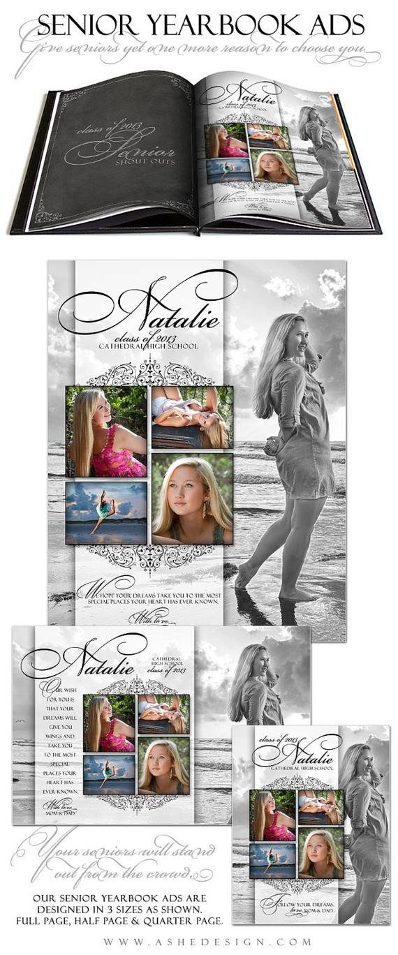 Senior Yearbook Page Template Senior Yearbook Ads Shop Templates Simply by ashedesign