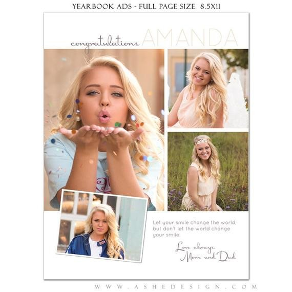 Senior Yearbook Page Template Senior Yearbook Ads Shop Templates Your Smile High