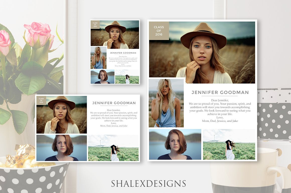 Senior Yearbook Page Template Senior Yearbook Ads Template Magazine Templates
