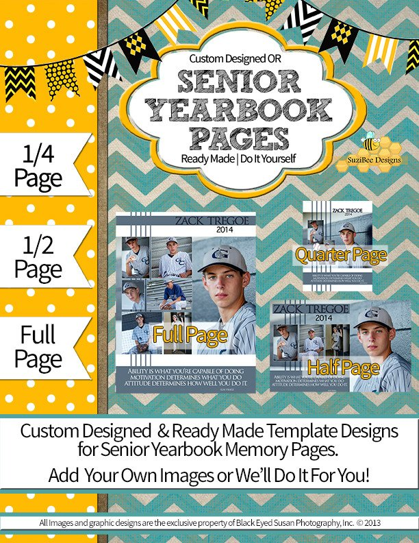 Senior Yearbook Page Template Suzibee Designs – Senior Yearbook Pages Graduation Cards