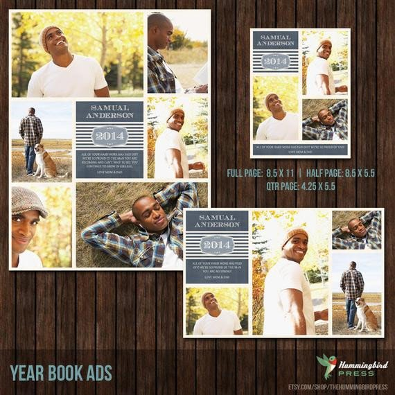 Senior Yearbook Page Template Yearbook Ads Senior Ads Graduation Ads 3 by