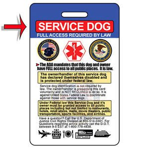 Service Dog Certificate Template Service Dog Id Card Badge & Certificate with Free Collar