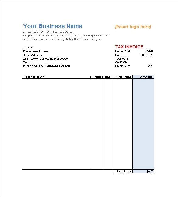 Service Invoice Template Free Downloadable Invoice Template for Word Here S What Ah