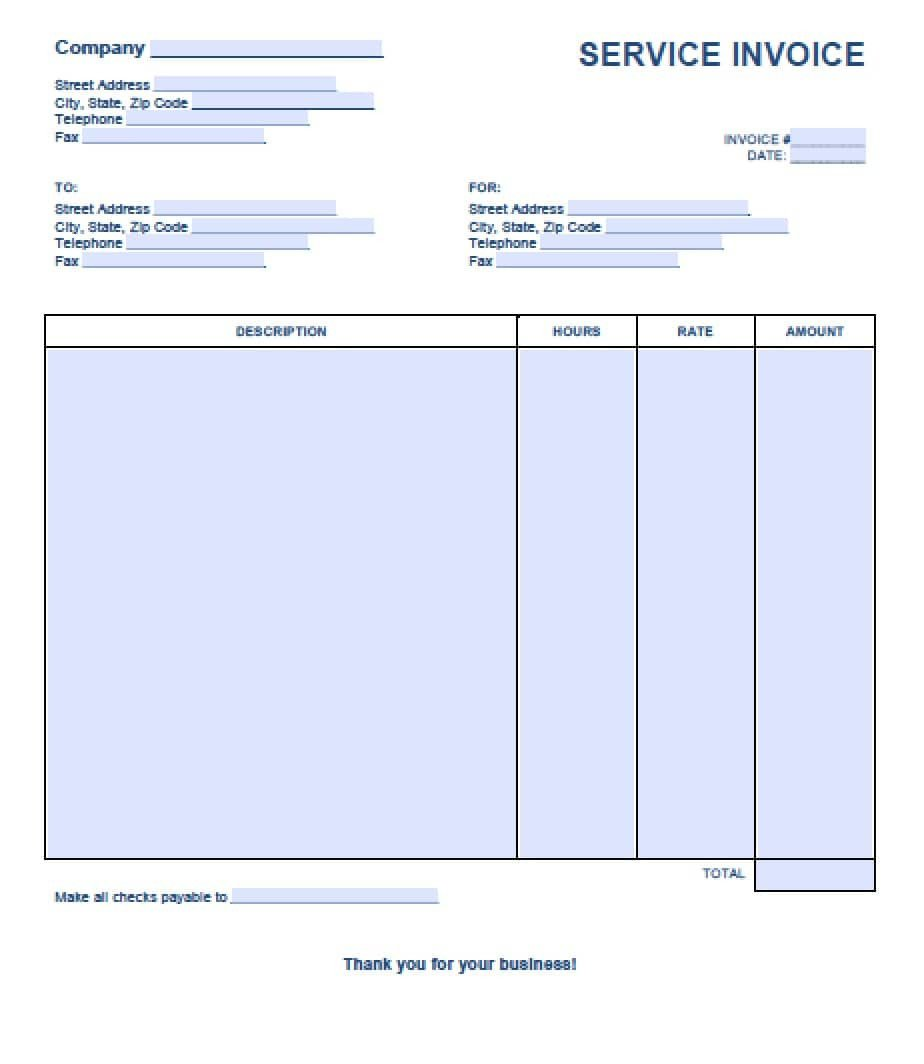 Service Invoice Template Free Free Service Invoice Template Excel Pdf