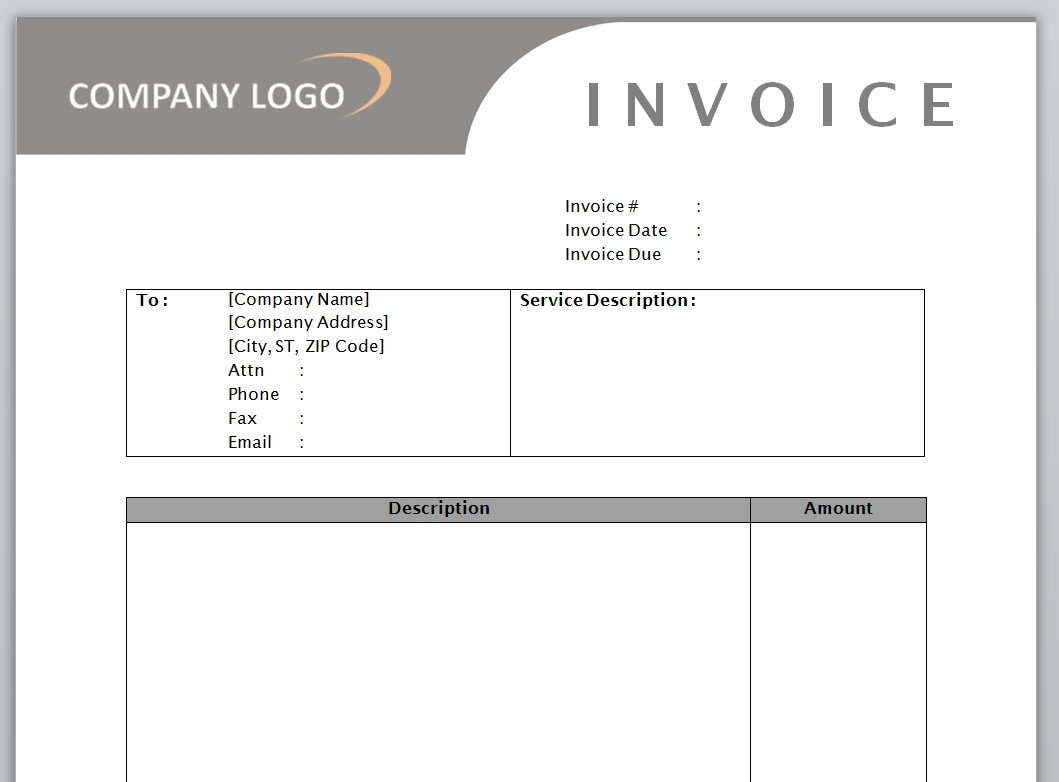 Service Invoice Templates Word Service Invoice Template Free Microsoft Word Templates