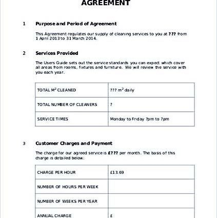 Service Level Agreement Template Simple Service Level Templates In Word format Doc Excel