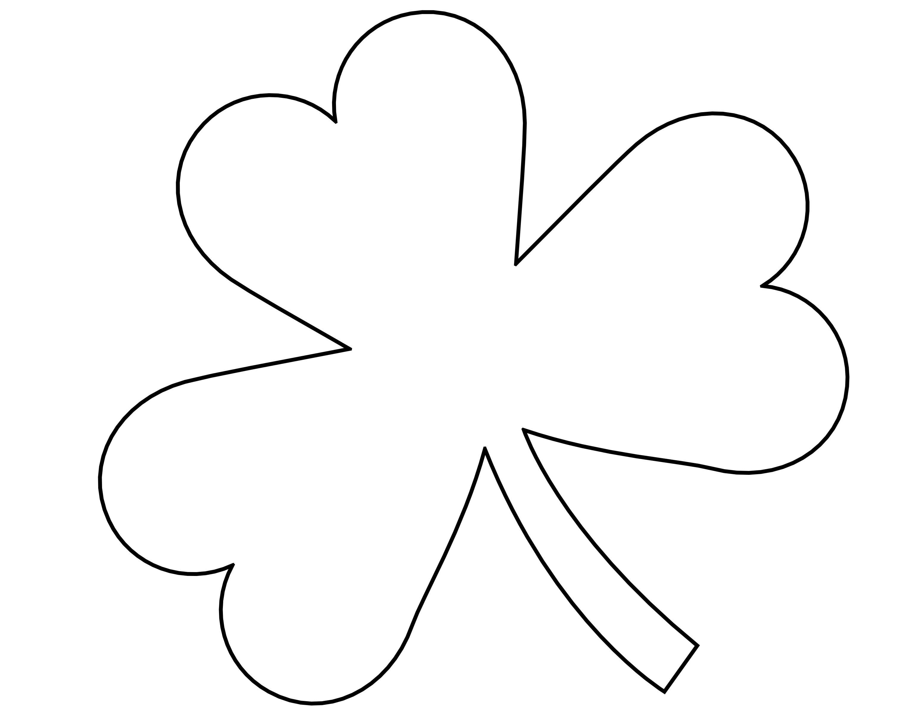 Shamrock Template Free Printable 5 Best Of Four Leaf Shamrock Template Printable