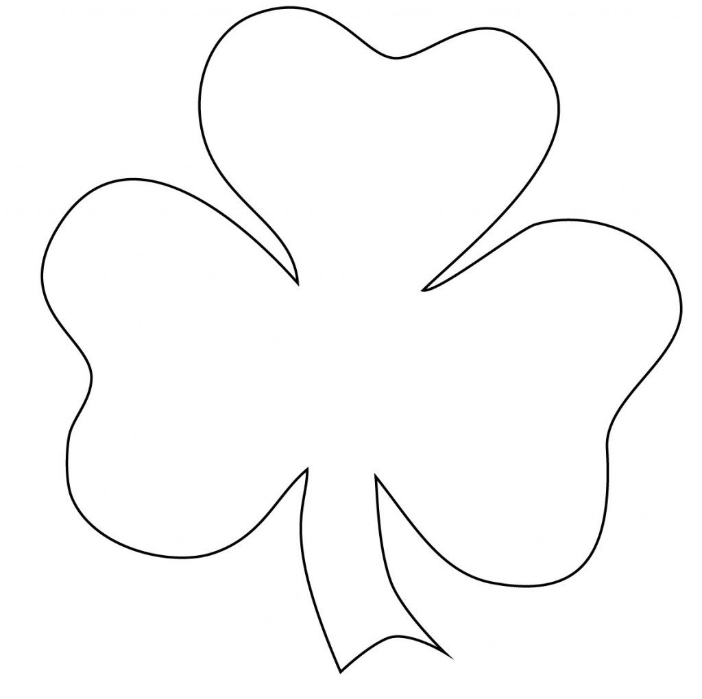 Shamrock Template Free Printable Free Printable Shamrock Coloring Pages for Kids