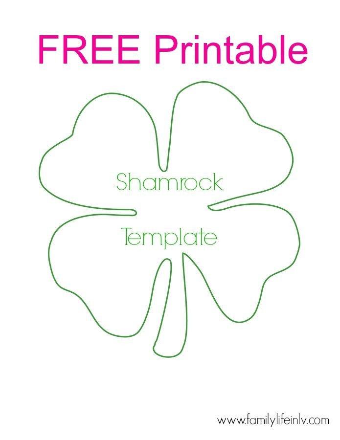 Shamrock Template Free Printable Free Shamrock Printable for Super Fun Shamrock Crafts