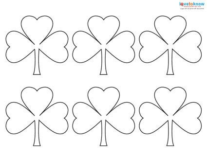 Shamrock Template Free Printable Pattern for A Shamrock