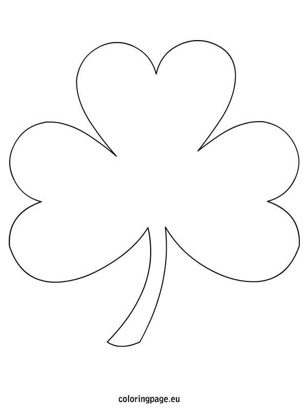 Shamrock Template Free Printable Shamrock Coloring Page Free From Coloringpage Lots Of