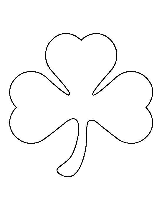 Shamrock Template Free Printable Shamrock Pattern Use the Printable Outline for