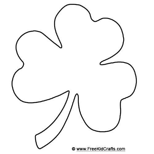 Shamrock Template Free Printable Shamrock Template for St Patrick S Day Crafts