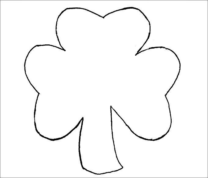 Shamrock Template Free Printable Small Shamrock Printable Template – Ezzy