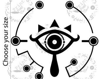 Sheikah Slate Template Eye Decal