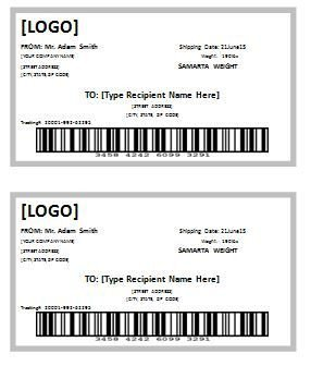 Shipping Label Template Free 10 Shipping Label Templates