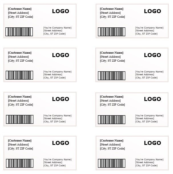 Shipping Label Templates Word Shipping Label Template – Microsoft Word Templates