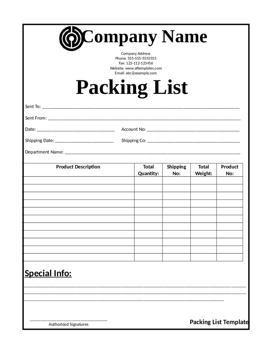 Shipping Packing List Template 2019 Release Of Interest form Fillable Printable Pdf