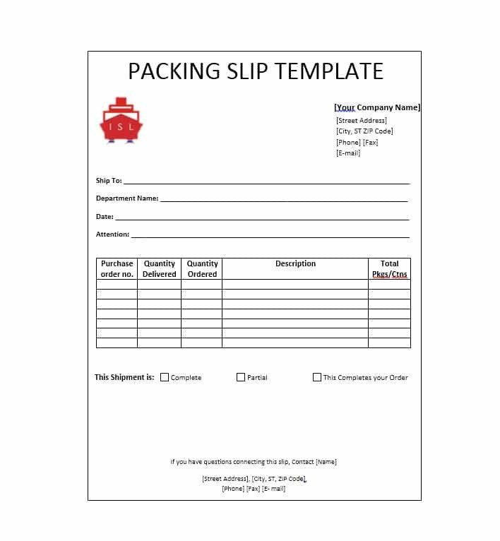Shipping Packing List Template Packing List Template Editable Word Excel Free Download
