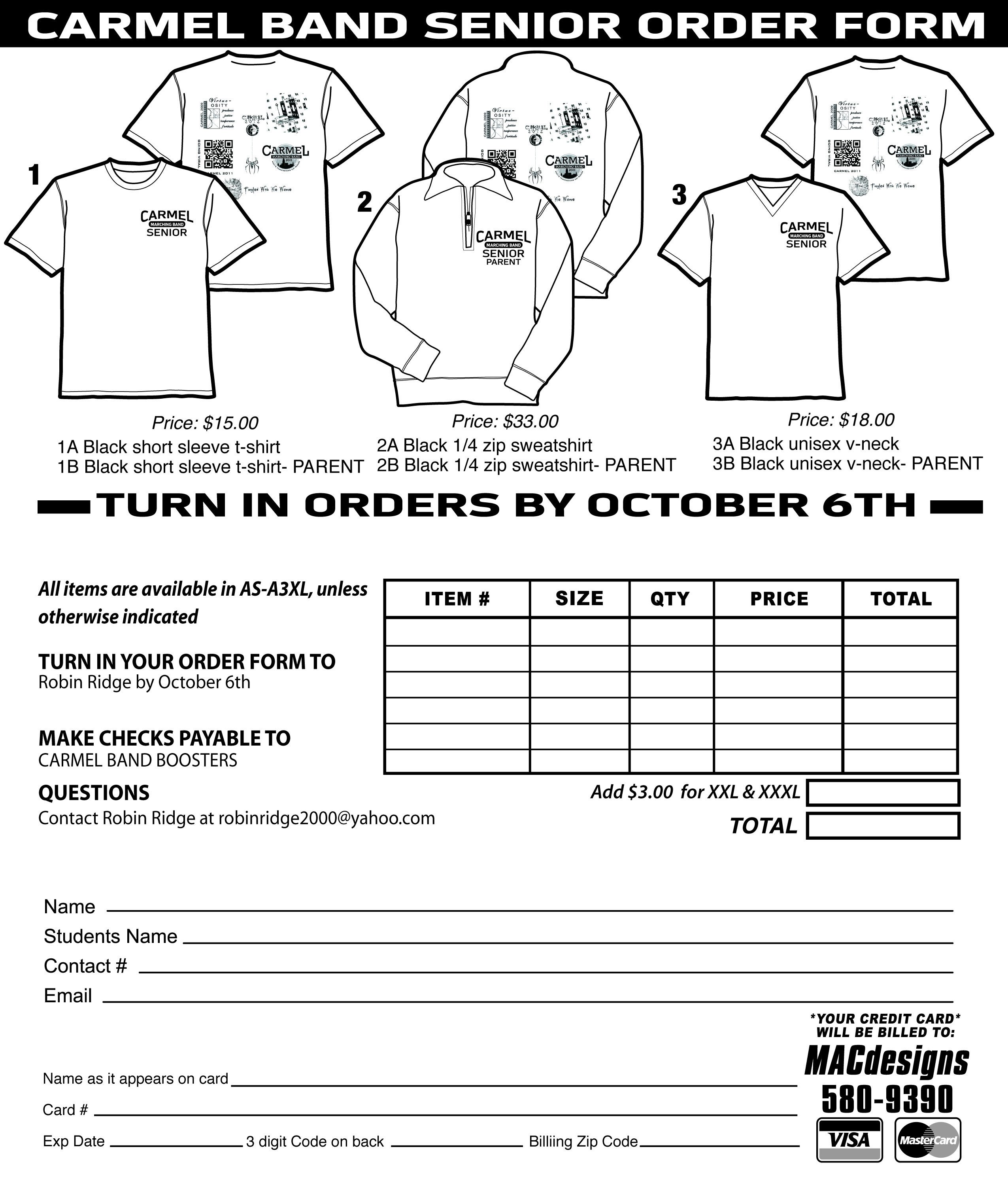Shirt order form Template T Shirt order form Template