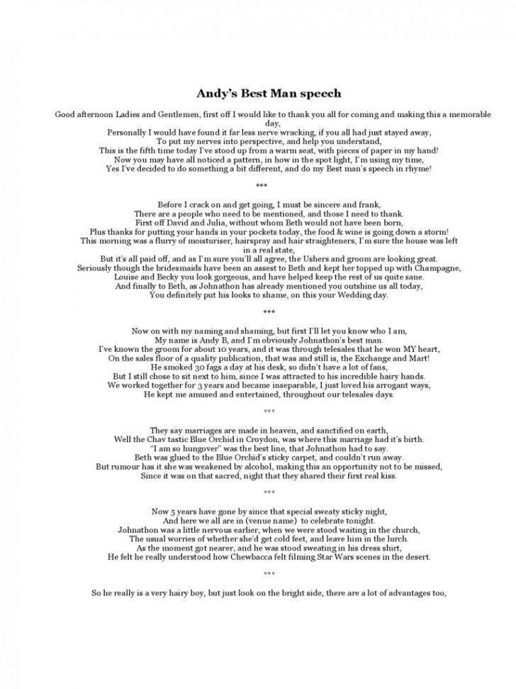 Short Best Man Speech Template 11 Best Man Speech Examples Pdf