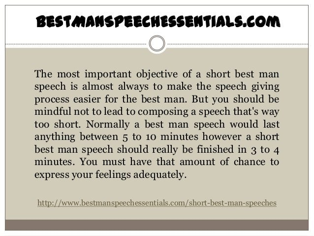 Short Best Man Speech Template How to Make Short Best Man Speeches